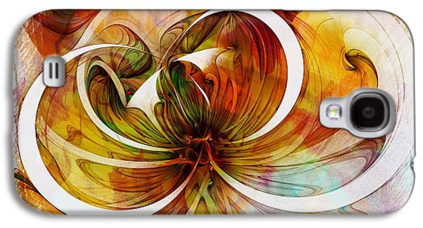 Abstract Digital Art Galaxy S4 Cases - Tendrils 14 Galaxy S4 Case by Amanda Moore