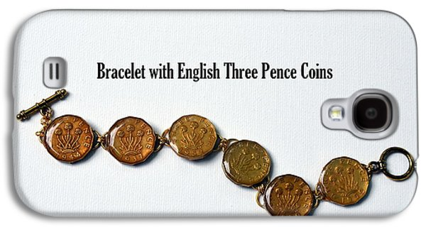 Round Jewelry Galaxy S4 Cases - English Three Pence Bracelet Galaxy S4 Case by Carla Parris
