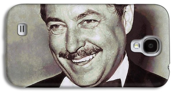 Author Mixed Media Galaxy S4 Cases - Tennessee Williams Galaxy S4 Case by Dan Sproul