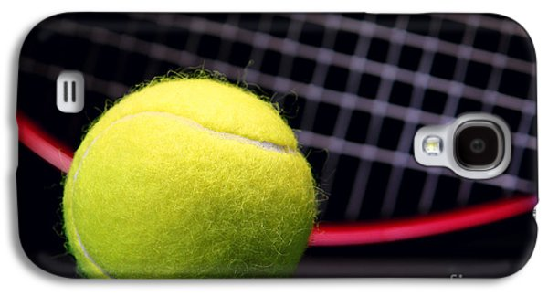Tennis Photographs Galaxy S4 Cases - Tennis Ball and Racket Galaxy S4 Case by Olivier Le Queinec