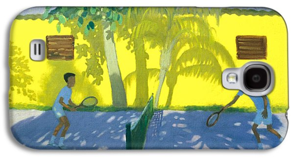Volley Galaxy S4 Cases - Tennis  Cuba Galaxy S4 Case by Andrew Macara