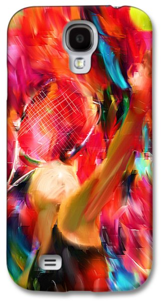 Tennis Player Galaxy S4 Cases - Tennis I Galaxy S4 Case by Lourry Legarde