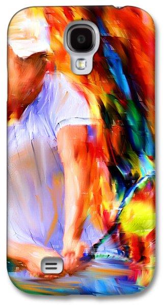 Tennis Player Galaxy S4 Cases - Tennis II Galaxy S4 Case by Lourry Legarde