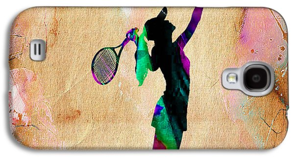 Tennis Player Galaxy S4 Case by Marvin Blaine
