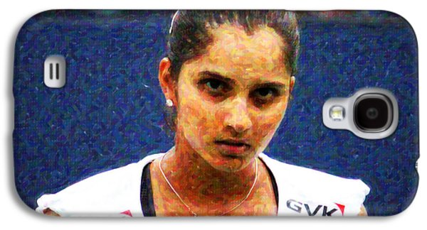 Volley Galaxy S4 Cases - Tennis Player Sania Mirza Galaxy S4 Case by Nishanth Gopinathan