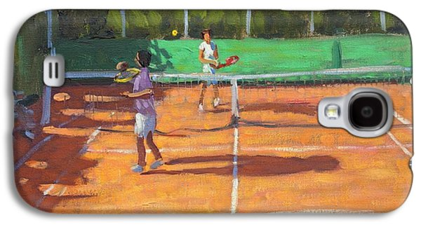 Volley Galaxy S4 Cases - Tennis practice Galaxy S4 Case by Andrew Macara