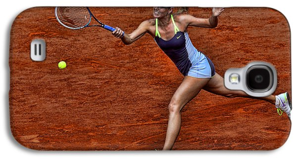 Sharapova Galaxy S4 Cases - Tennis Star Maria Sharapova Galaxy S4 Case by Srdjan Petrovic