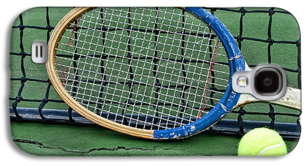 Volley Galaxy S4 Cases - Tennis - Vintage Tennis Racquet Galaxy S4 Case by Paul Ward