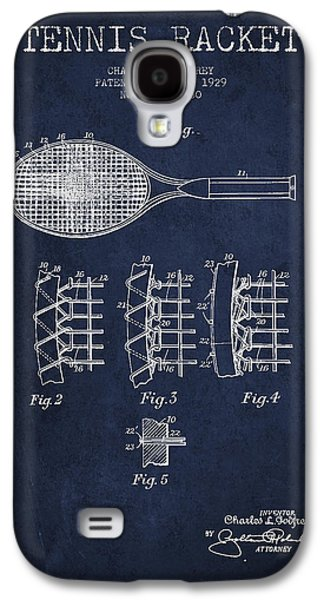 Technical Digital Art Galaxy S4 Cases - Tennnis Racket Patent Drawing from 1929 Galaxy S4 Case by Aged Pixel