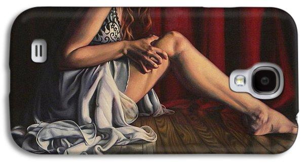 Dance Floor Paintings Galaxy S4 Cases - Tension Galaxy S4 Case by Rebekah  Reed