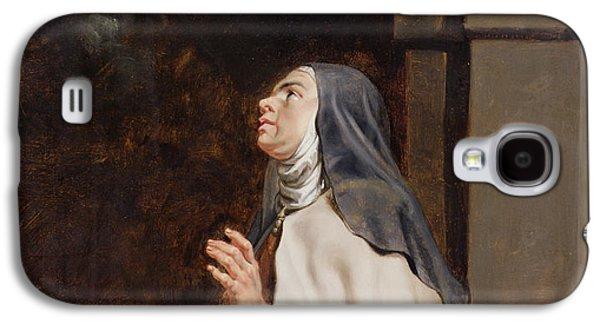 Visionary Paintings Galaxy S4 Cases - Teresa Of Avilas Vision Of A Dove Galaxy S4 Case by Peter Paul Rubens