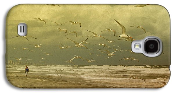 Tern Galaxy S4 Cases - Terns in the Clouds Galaxy S4 Case by Deborah Benoit