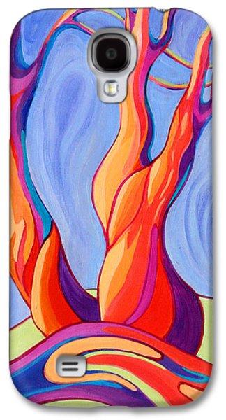 Windblown Paintings Galaxy S4 Cases - Terpsichore Tribute Galaxy S4 Case by Sandi Whetzel