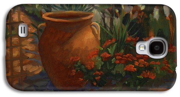 Terra Paintings Galaxy S4 Cases - Terra Cotta Garden Galaxy S4 Case by Maria Hunt