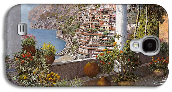 Coast Galaxy S4 Cases - terrazza a Positano Galaxy S4 Case by Guido Borelli