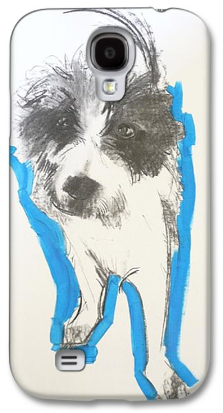 Terrier Galaxy S4 Cases - Terrier, 2012 Charcoal And Oil On Paper Galaxy S4 Case by Sally Muir