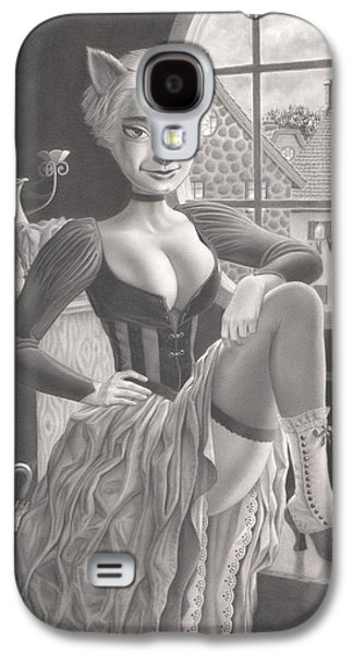 Creepy Drawings Galaxy S4 Cases - Tess Galaxy S4 Case by Richard Moore