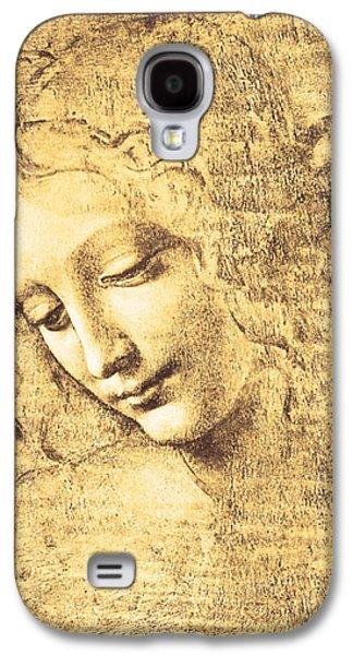 Smiling Jesus Galaxy S4 Cases - Testa di fanciulla detta la scapigliata Galaxy S4 Case by Leonardo Da Vinci