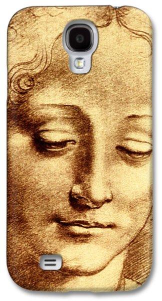 Smiling Jesus Galaxy S4 Cases - Testa di Giovinetta Galaxy S4 Case by Leonardo Da Vinci