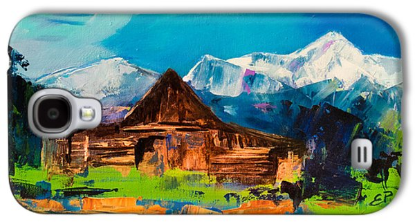 Old Barns Paintings Galaxy S4 Cases - Teton Barn  Galaxy S4 Case by Elise Palmigiani