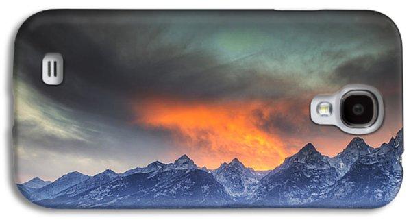 Beauty Mark Galaxy S4 Cases - Teton Explosion Galaxy S4 Case by Mark Kiver