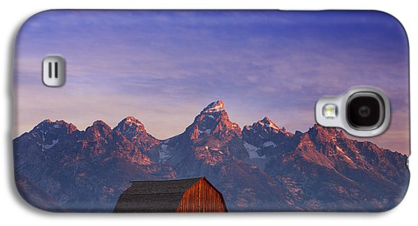 Landscape Photography Photographs Galaxy S4 Cases - Teton Sunrise Galaxy S4 Case by Darren  White