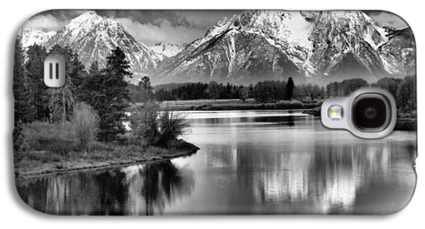 Snow Capped Galaxy S4 Cases - Tetons In Black And White Galaxy S4 Case by Dan Sproul