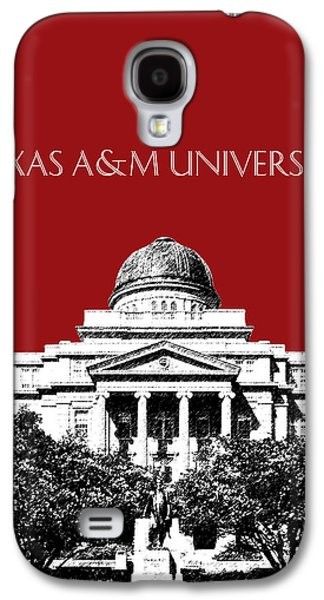 University Galaxy S4 Cases - Texas A and M University - Dark Red Galaxy S4 Case by DB Artist