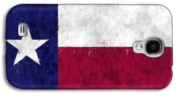 Flag Of Usa Galaxy S4 Cases - Texas Flag Galaxy S4 Case by World Art Prints And Designs