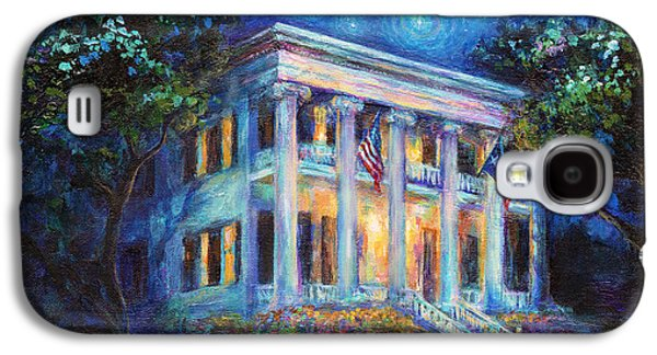Starry Paintings Galaxy S4 Cases - Texas Governor Mansion painting Galaxy S4 Case by Svetlana Novikova