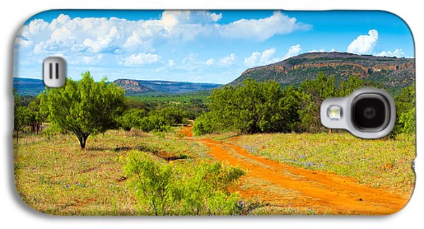 Country Dirt Roads Galaxy S4 Cases - Texas Hill Country Red Dirt Road Galaxy S4 Case by Darryl Dalton