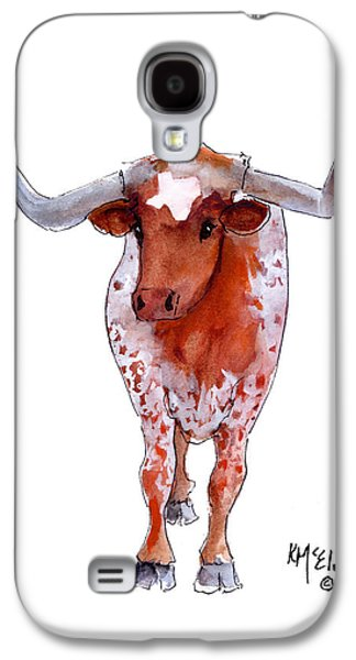 Texas Artist Galaxy S4 Cases - Texas Longhorn Galaxy S4 Case by Kathleen McElwaine
