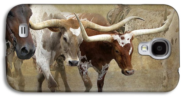 Texas Longhorns Galaxy S4 Case by Angie Vogel