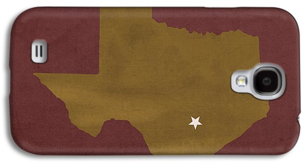Bobcats Galaxy S4 Cases - Texas State University Bobcats San Marcos College Town State Map Pillow Galaxy S4 Case by Design Turnpike