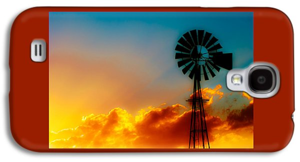 Windmill Galaxy S4 Cases - Texas Sunrise Galaxy S4 Case by Darryl Dalton