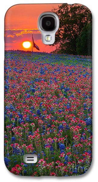 Pasture Scenes Photographs Galaxy S4 Cases - Texas Sunset Galaxy S4 Case by Inge Johnsson