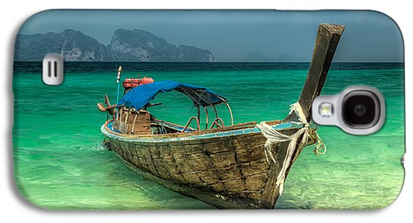 Coastline Digital Art Galaxy S4 Cases - Thai Boat  Galaxy S4 Case by Adrian Evans