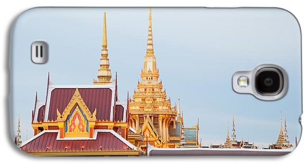 Ancient Sculptures Galaxy S4 Cases - Thai construction design. Galaxy S4 Case by Vachiraphan Phangphan