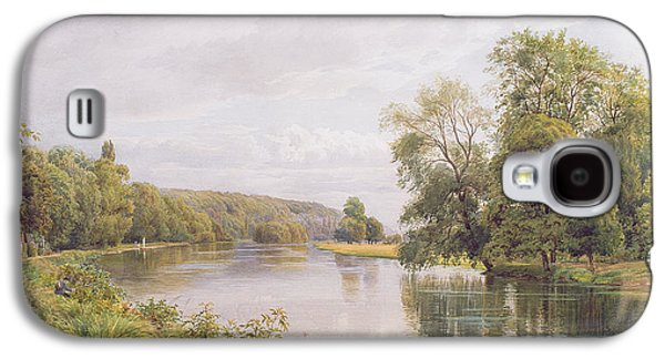 River View Paintings Galaxy S4 Cases - Thames Galaxy S4 Case by William Bradley