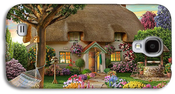 Chair Galaxy S4 Cases - Thatched Cottage Galaxy S4 Case by Adrian Chesterman
