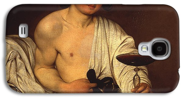 Italian Wine Paintings Galaxy S4 Cases - The Adolescent Bacchus Galaxy S4 Case by Caravaggio