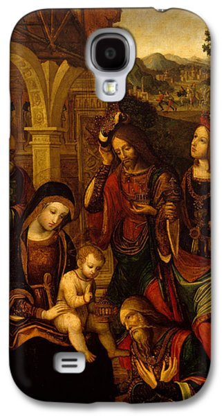 The Kings Paintings Galaxy S4 Cases - The Adoration of the Kings Galaxy S4 Case by Neapolitan School