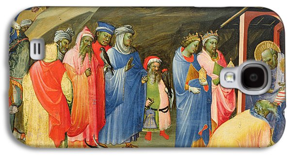 The Kings Paintings Galaxy S4 Cases - The Adoration of the Magi Galaxy S4 Case by Gherardo Starnina