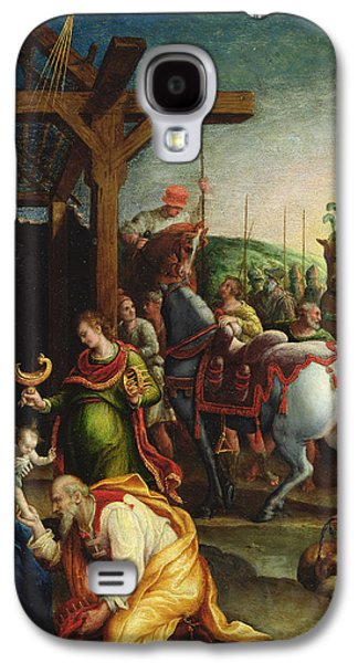 The Kings Paintings Galaxy S4 Cases - The Adoration of the Magi Galaxy S4 Case by Lavinia Fontana