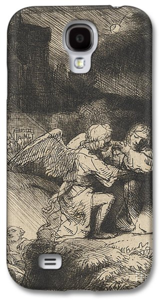 Religious Drawings Galaxy S4 Cases - The Agony in the garden Galaxy S4 Case by Rembrandt