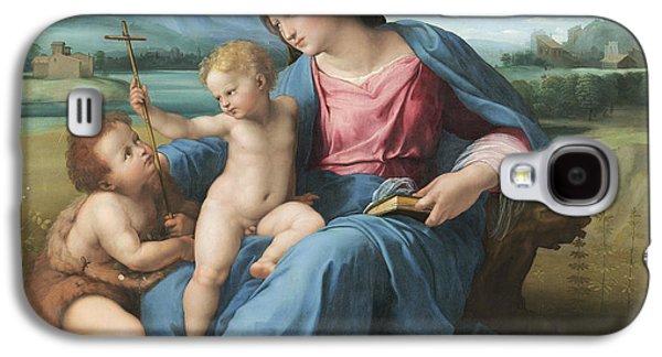 Baptist Paintings Galaxy S4 Cases - The Alba Madonna Galaxy S4 Case by Raffaello Sanzio of Urbino