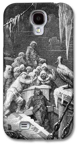 The Albatross Being Fed By The Sailors On The The Ship Marooned In The Frozen Seas Of Antartica Galaxy S4 Case by Gustave Dore