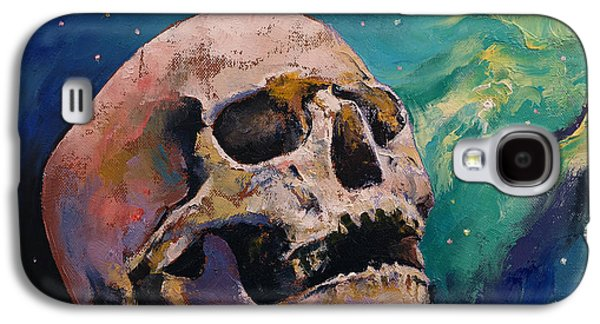 Trippy Paintings Galaxy S4 Cases - The Alchemist Galaxy S4 Case by Michael Creese
