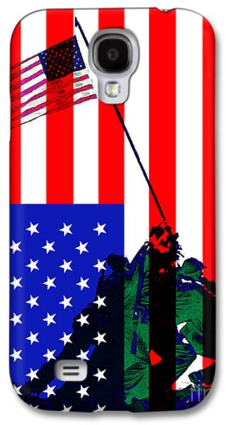 4th July Galaxy S4 Cases - The American Flag Over Iwo Jima 20130210 Galaxy S4 Case by Wingsdomain Art and Photography