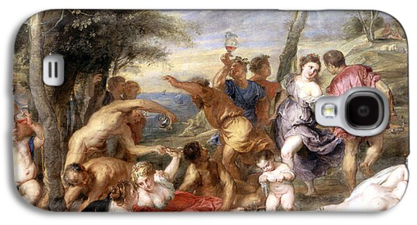 The Andrians A Free Copy After Titian Galaxy S4 Case by Peter Paul Rubens
